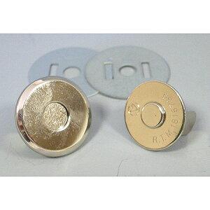 ジャスミン/差し込み薄型マグネットボタン 3mm×Φ18mm 5組 シルバー/M1018-S【01】【取寄】