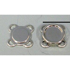 NBK/縫い付けマグネットボタン 10mm 3組 シルバー/SM1-S【01】【取寄】