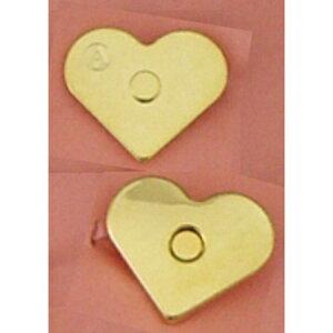 ジャスミン/ハートマグネットボタン 5組 ゴールド/M28-G【01】【取寄】