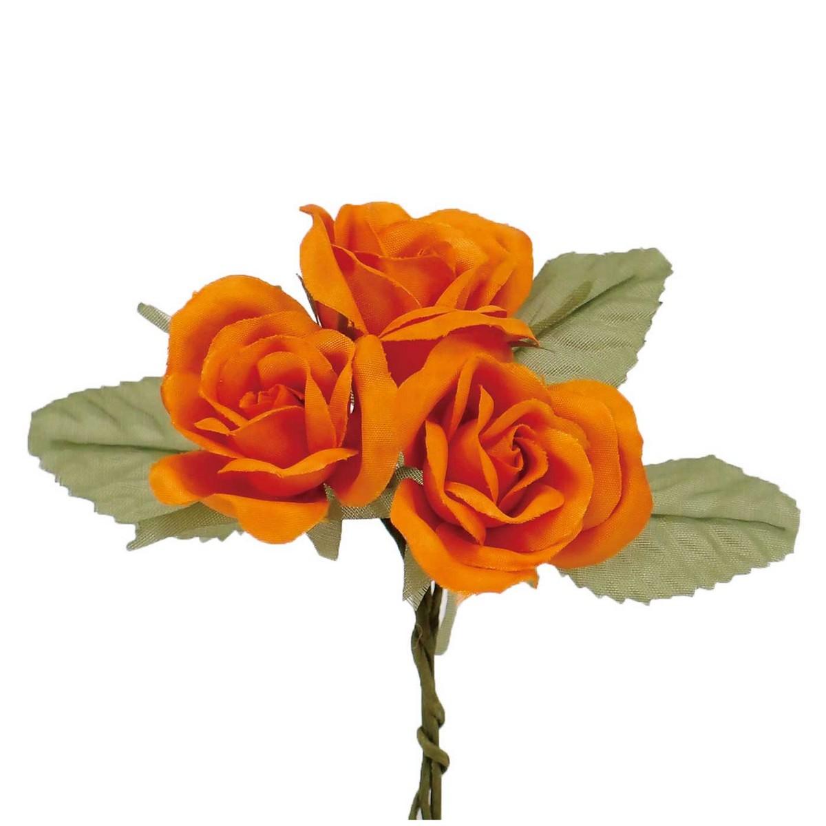 【造花】サンセイ/DSI-01ローズ#09オレンジ 1束/台紙付/541255|造花 バラ【01】【取寄】[3個]《 造花(アーティフィシャルフラワー) 造花 花材「は行」 バラ 》
