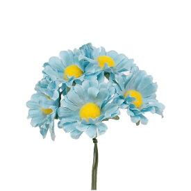 【造花】サンセイ/DSI-04デイジー#56スカイブルー 1束/台紙付/541279【01】【取寄】[3個]《 造花(アーティフィシャルフラワー) 造花 花材「た行」 デージー 》
