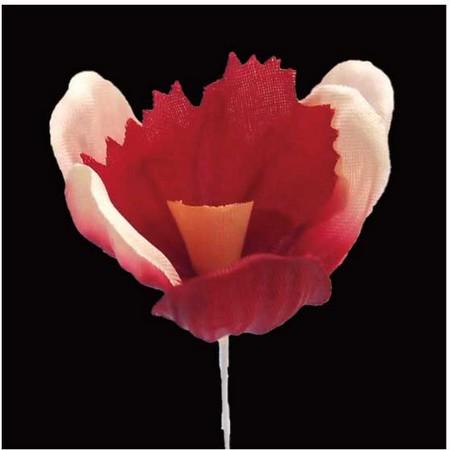【造花】サンセイ/NY-045クロッカス #01レッド/569296【01】【01】【取寄】[12本]《 造花(アーティフィシャルフラワー) 造花 花材「あ行」 アヤメ・アイリス 》