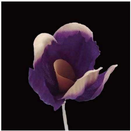 【造花】サンセイ/NY-045クロッカス #18パープル/569297【01】【01】【取寄】[12本]《 造花(アーティフィシャルフラワー) 造花 花材「あ行」 アヤメ・アイリス 》