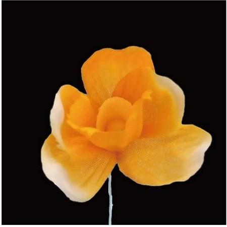 【造花】サンセイ/NY-045クロッカス #72山吹/569298【01】【01】【取寄】[12本]《 造花(アーティフィシャルフラワー) 造花 花材「あ行」 アヤメ・アイリス 》