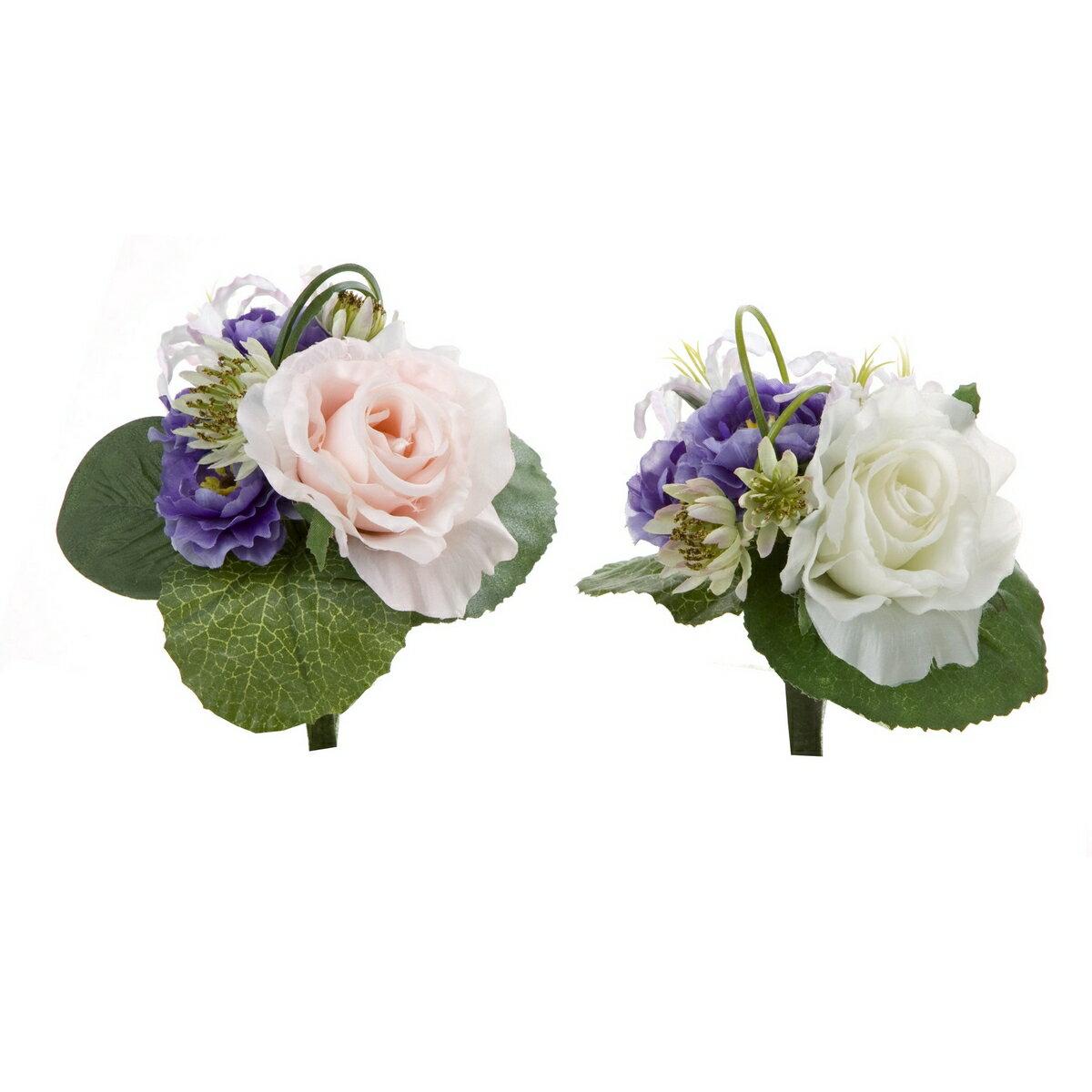 大特価◎【造花】YDM/ミニブーケ ローズ アソート※デザインを指定することはできません/FP0638-AST【01】【取寄】《 造花(アーティフィシャルフラワー) 造花 花材「は行」 バラ 》
