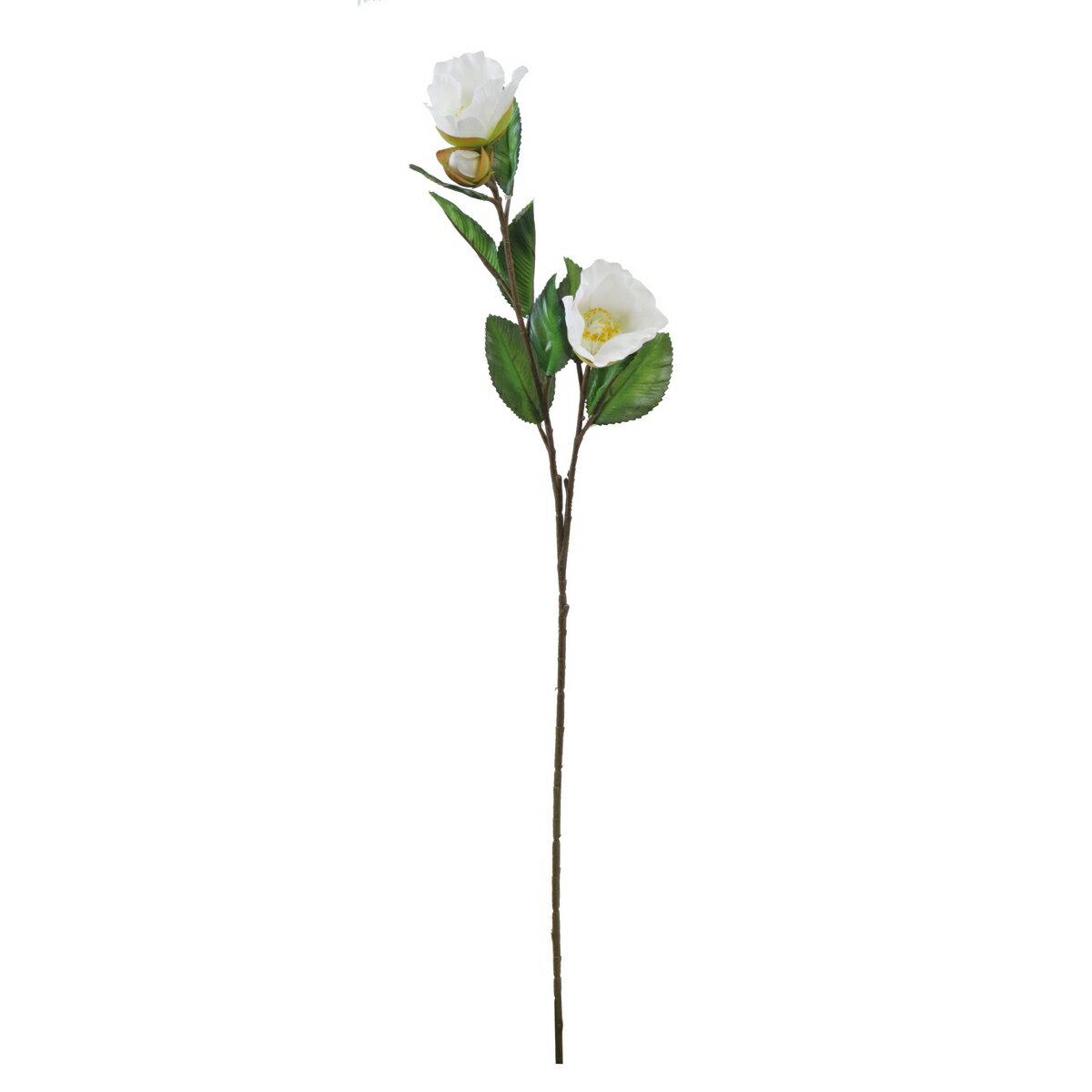 大特価◎【造花】YDM/ツバキ*2 ホワイト/FS7070-W【01】【01】【取寄】《 造花(アーティフィシャルフラワー) 造花 花材「た行」 ツバキ(椿) 》