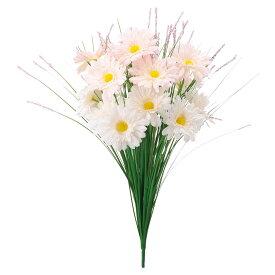 【造花】YDM/グラスガーベラブッシュ ホワイト/FP-5021-W【01】【01】【取寄】《 造花(アーティフィシャルフラワー) 造花ギフト 仏花 》