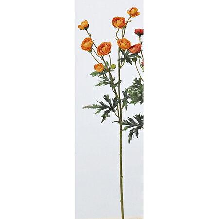 【造花】アスカ/ラナンキュラス×7 つぼみ×3 オレンジ/A-33197-030【01】【取寄】《 造花(アーティフィシャルフラワー) 造花 花材「ら行」 ラナンキュラス 》