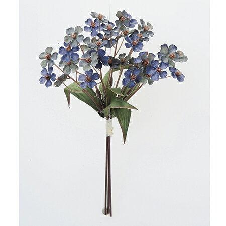 【造花】アスカ/ミニフラワーバンチ(1束3本) ネイビー/A-33188-009N【01】【01】【取寄】《 造花(アーティフィシャルフラワー) 造花 花材「ま行」 その他「ま行」造花花材 》