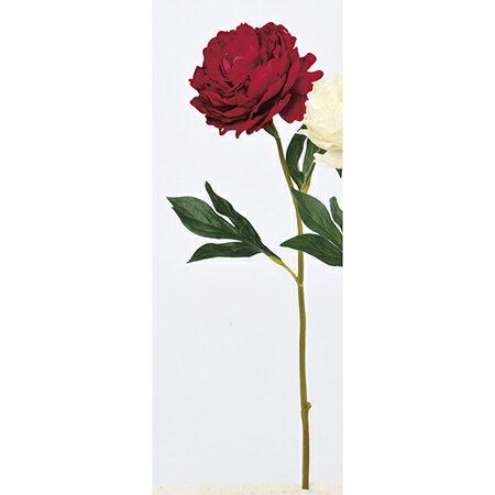 【造花】アスカ/ベルベットピオニー レッド/A-33119-002【01】|芍薬・牡丹【01】【取寄】《 造花(アーティフィシャルフラワー) 造花 花材「さ行」 シャクヤク(芍薬)・ボタン(牡丹)・ピオニー 》