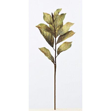 【造花】アスカ/マグノリアリーフスプレー グリ−ンゴ−ルド/A-74453-053G【01】【取寄】《 造花(アーティフィシャルフラワー) 造花 花材「ま行」 モクレン(木蓮)・マグノリア 》