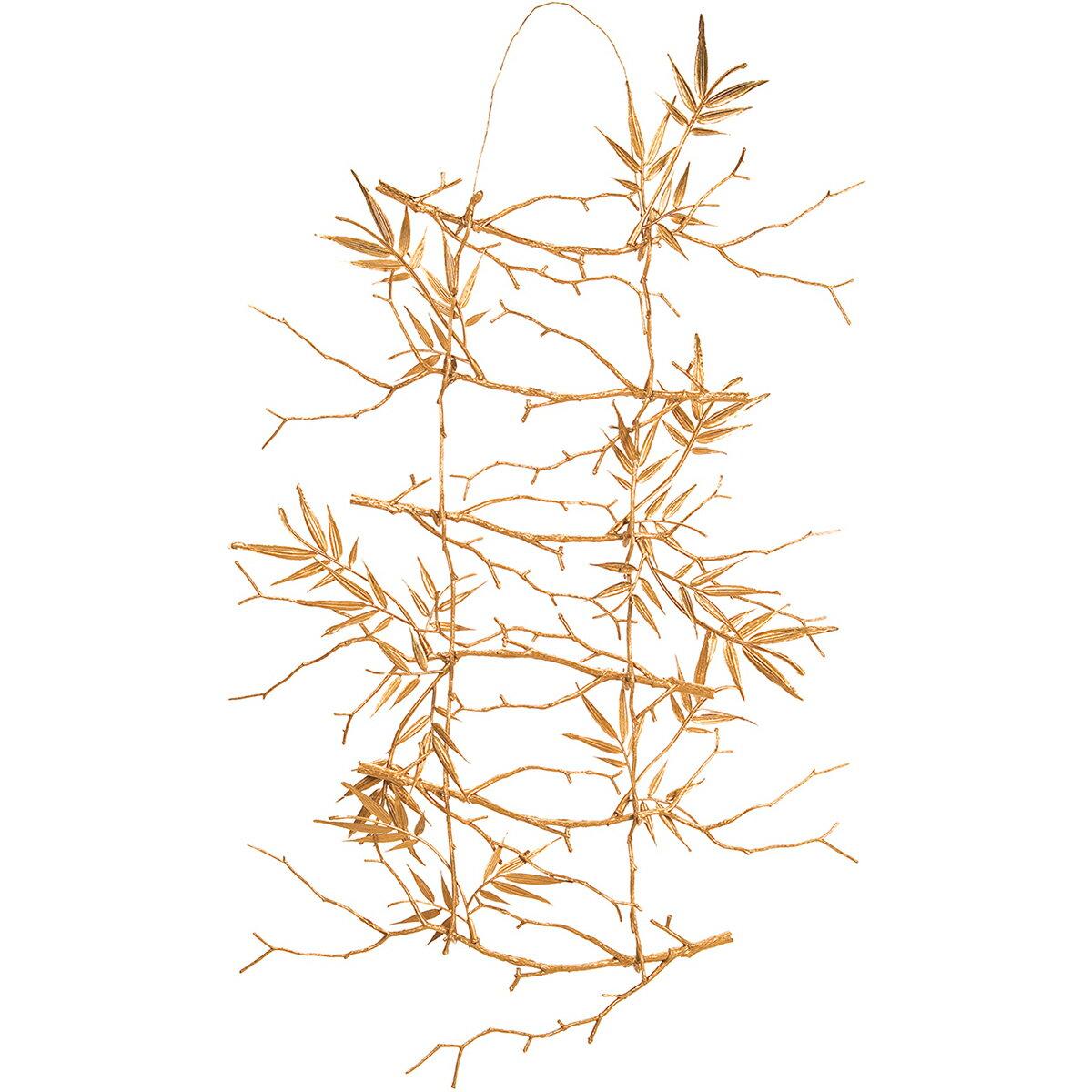 【造花】MAGIQ(東京堂)/ゴールドバンブーラダー ゴールド/FJ004080【01】【取寄】《 造花(アーティフィシャルフラワー) 造花枝物 竹 》