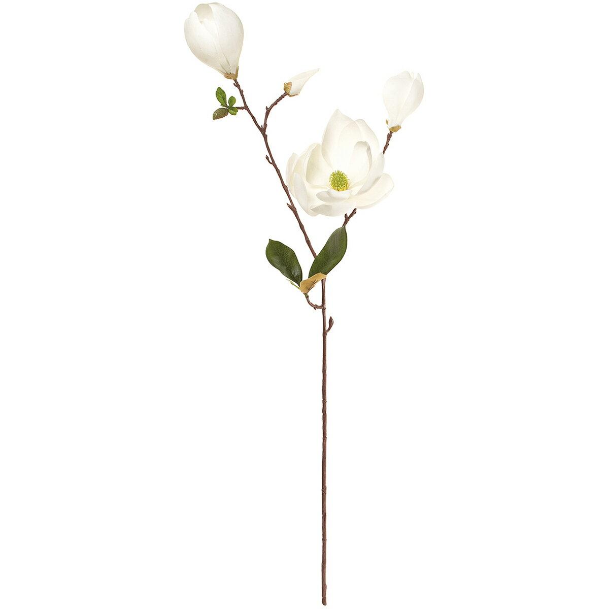 【造花】MAGIQ(東京堂)/ソレイユマグノリア #1 ホワイト/FM002023-001【01】【01】【取寄】《 造花(アーティフィシャルフラワー) 造花 花材「ま行」 モクレン(木蓮)・マグノリア 》
