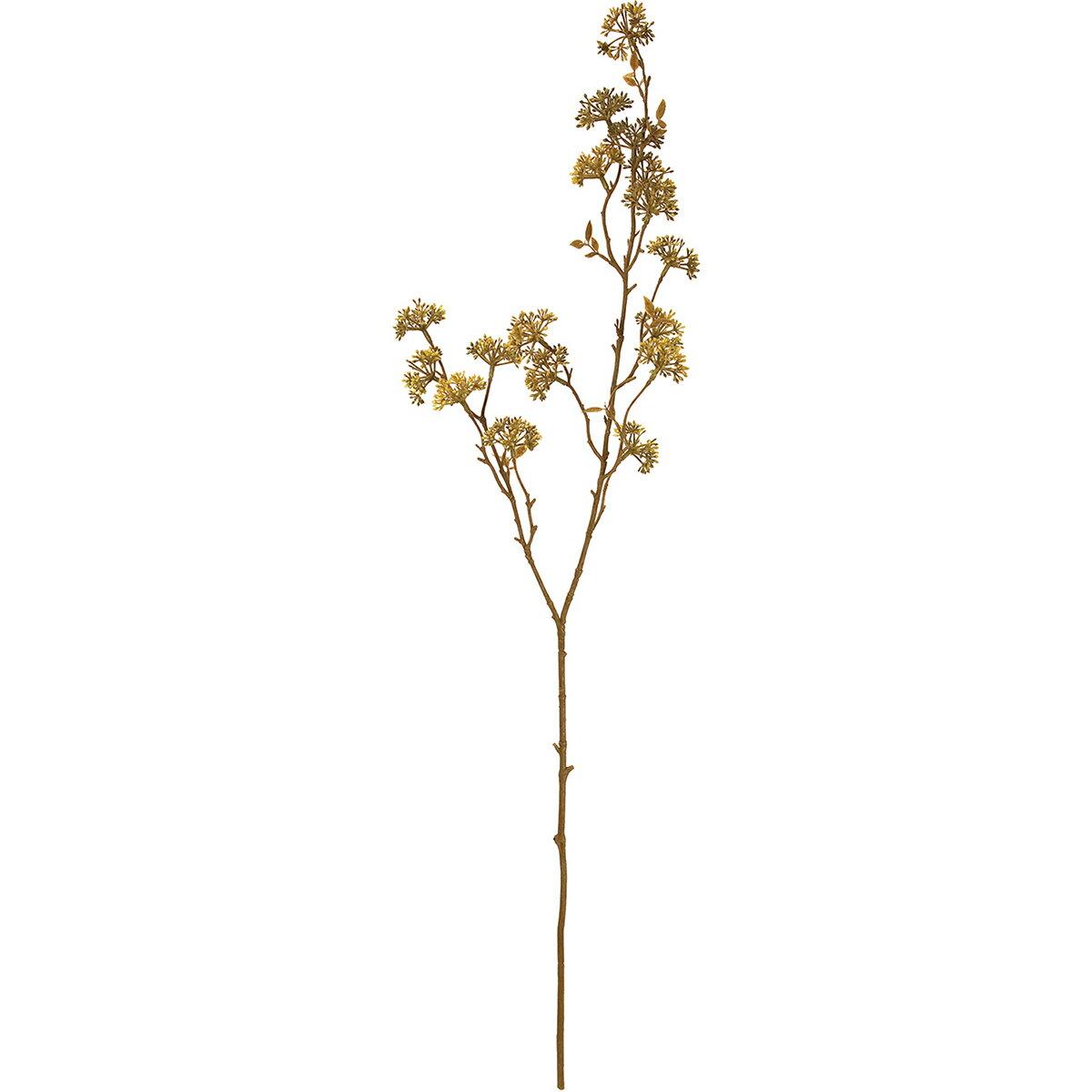 【造花】MAGIQ(東京堂)/フロックディルスプレー ブラウン/FM002155【01】【取寄】《 造花(アーティフィシャルフラワー) 造花枝物 その他の造花枝物 》