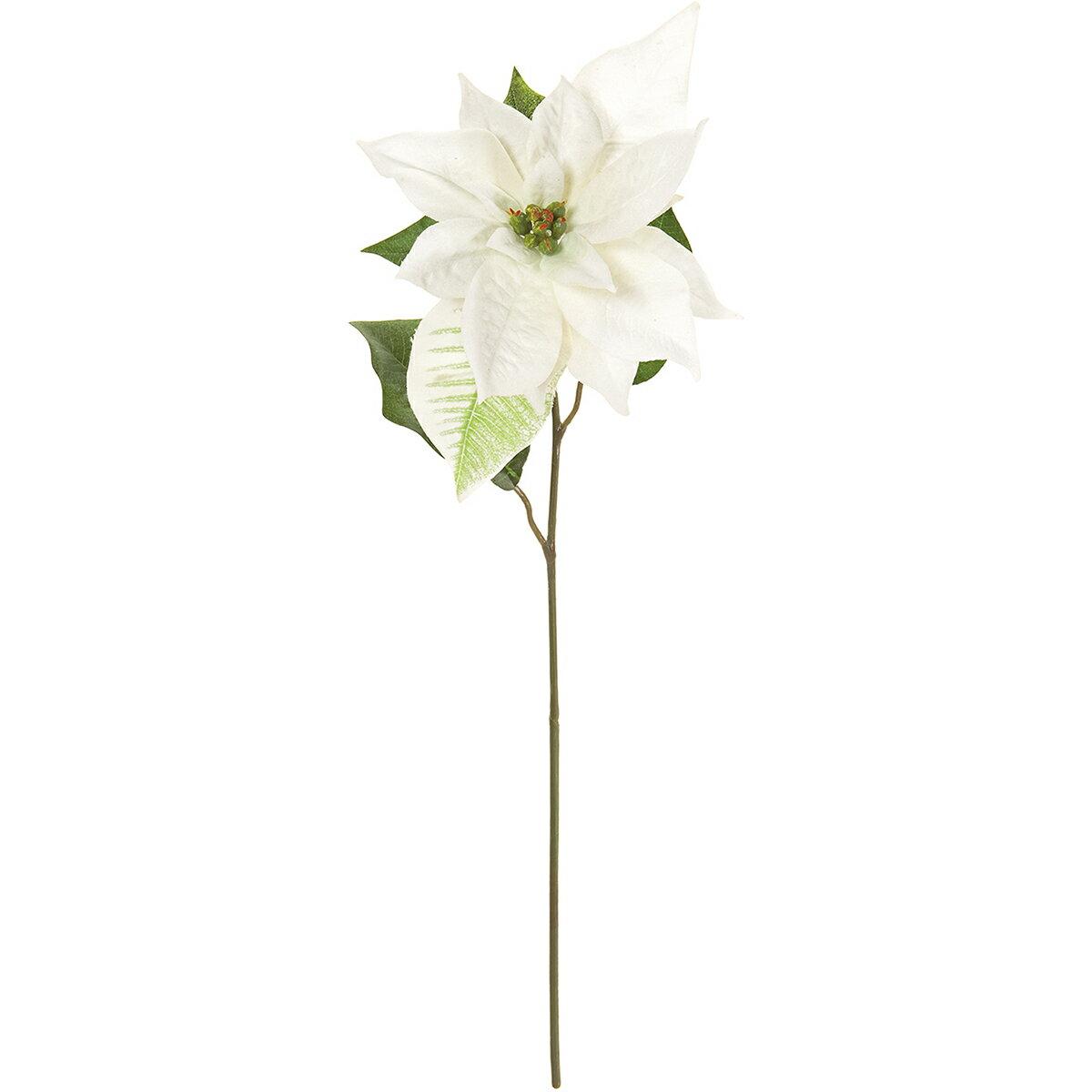 【造花】MAGIQ(東京堂)/ボヌールポインセチア #1 ホワイト/FX002786-001【01】【取寄】《 造花(アーティフィシャルフラワー) 造花 花材「は行」 ポインセチア 》