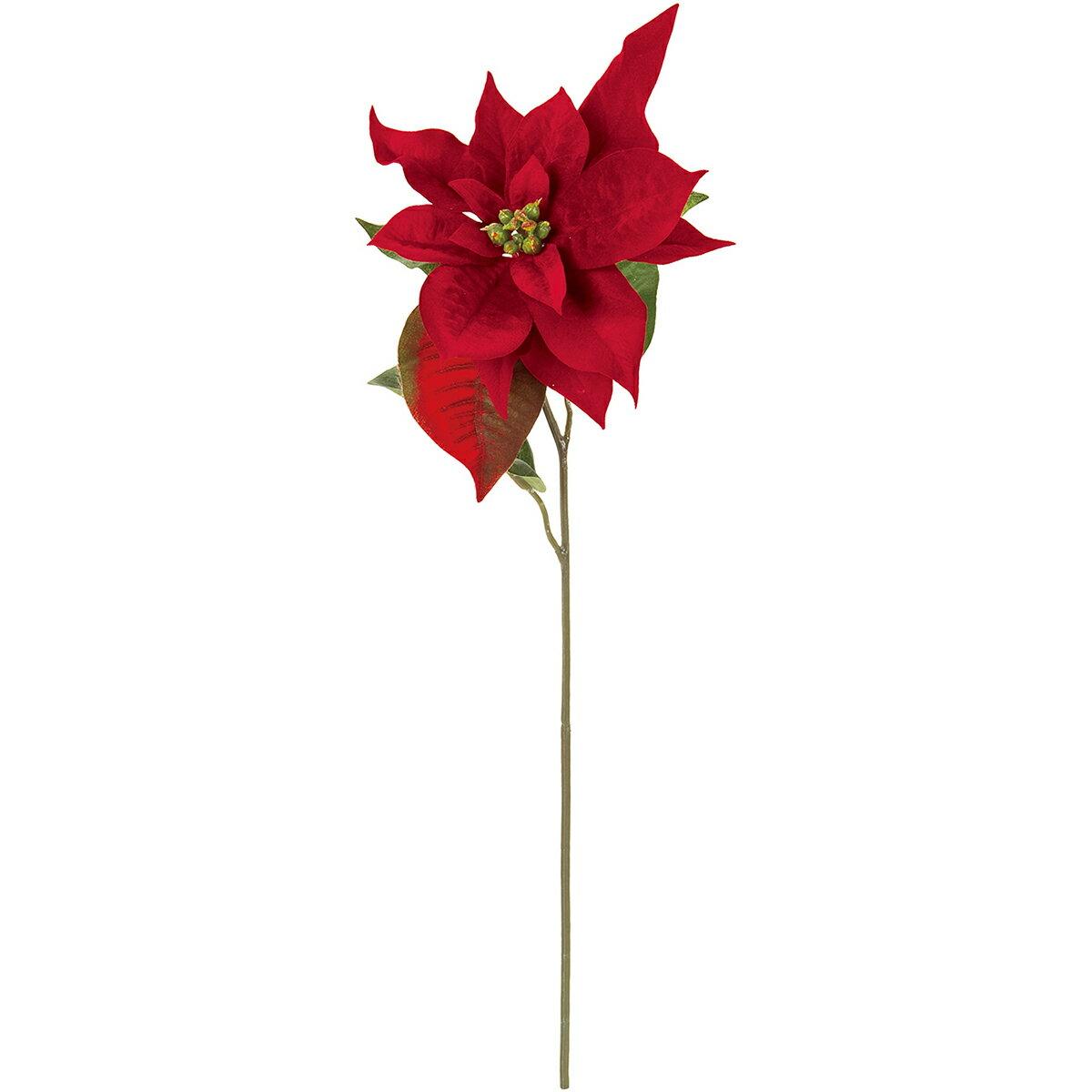 【造花】MAGIQ(東京堂)/ボヌールポインセチア #3 レッド/FX002786-003【01】【取寄】《 造花(アーティフィシャルフラワー) 造花 花材「は行」 ポインセチア 》