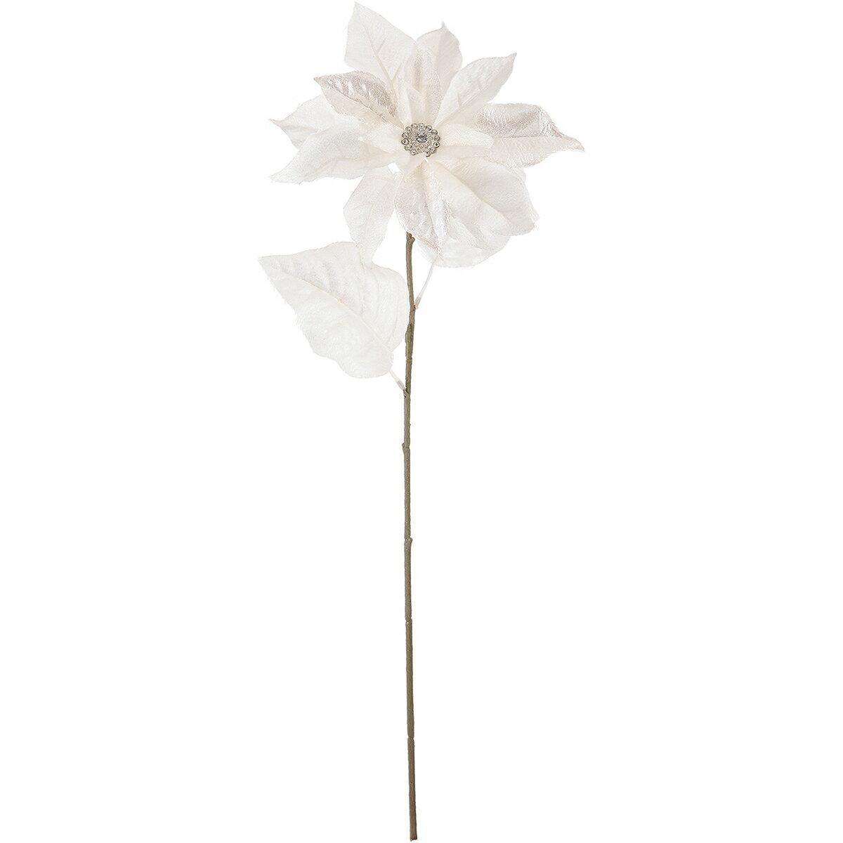 【造花】MAGIQ(東京堂)/シュプリームポインセチア #1 ホワイト/FX009400-001【01】【取寄】《 造花(アーティフィシャルフラワー) 造花 花材「は行」 ポインセチア 》