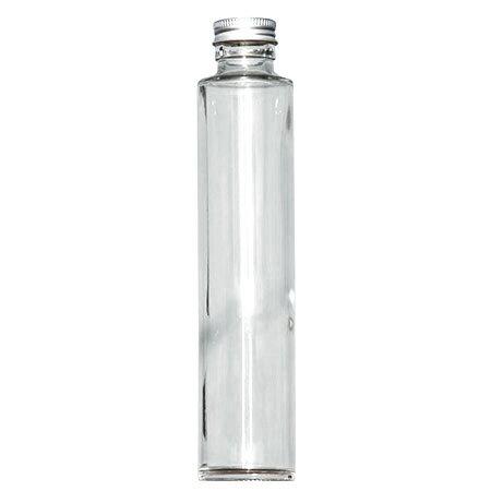 即日★ハーバリウム瓶(丸)200ml アルミ銀キャップ付【00】《花資材・道具 ハーバリウム材料 ハーバリウム オイル》