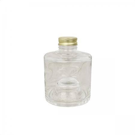 即日★ハーバリウム瓶(スタッキングボトル)180ml アルミ金キャップ付【00】《 花資材・道具 ドライ・押し花用資材 ハーバリウムオイル 》