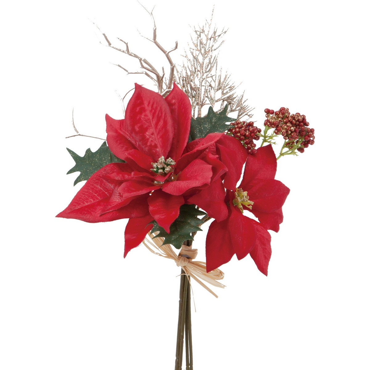 【造花】YDM/ポインセチア ミックスバンチ レッド/FS-6990-R【01】【01】【取寄】《 造花(アーティフィシャルフラワー) 造花 花材「は行」 ポインセチア 》