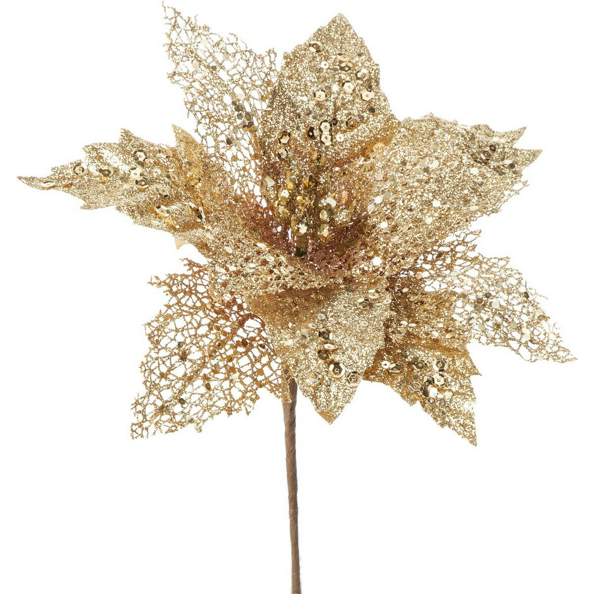 大特価◎【造花】YDM/グリッターポインセチアピック GO/CSV-129【01】【取寄】《 造花(アーティフィシャルフラワー) 造花 花材「は行」 ポインセチア 》