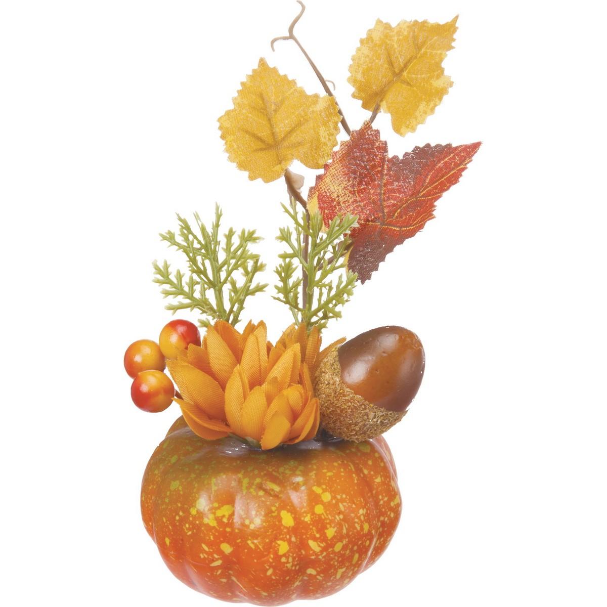 【造花】YDM/パンプキンマムミックスアレンジ/HW-1430【01】【取寄】《 店舗ディスプレイ ハロウィン飾り・オーナメント ハロウィンオブジェ 》
