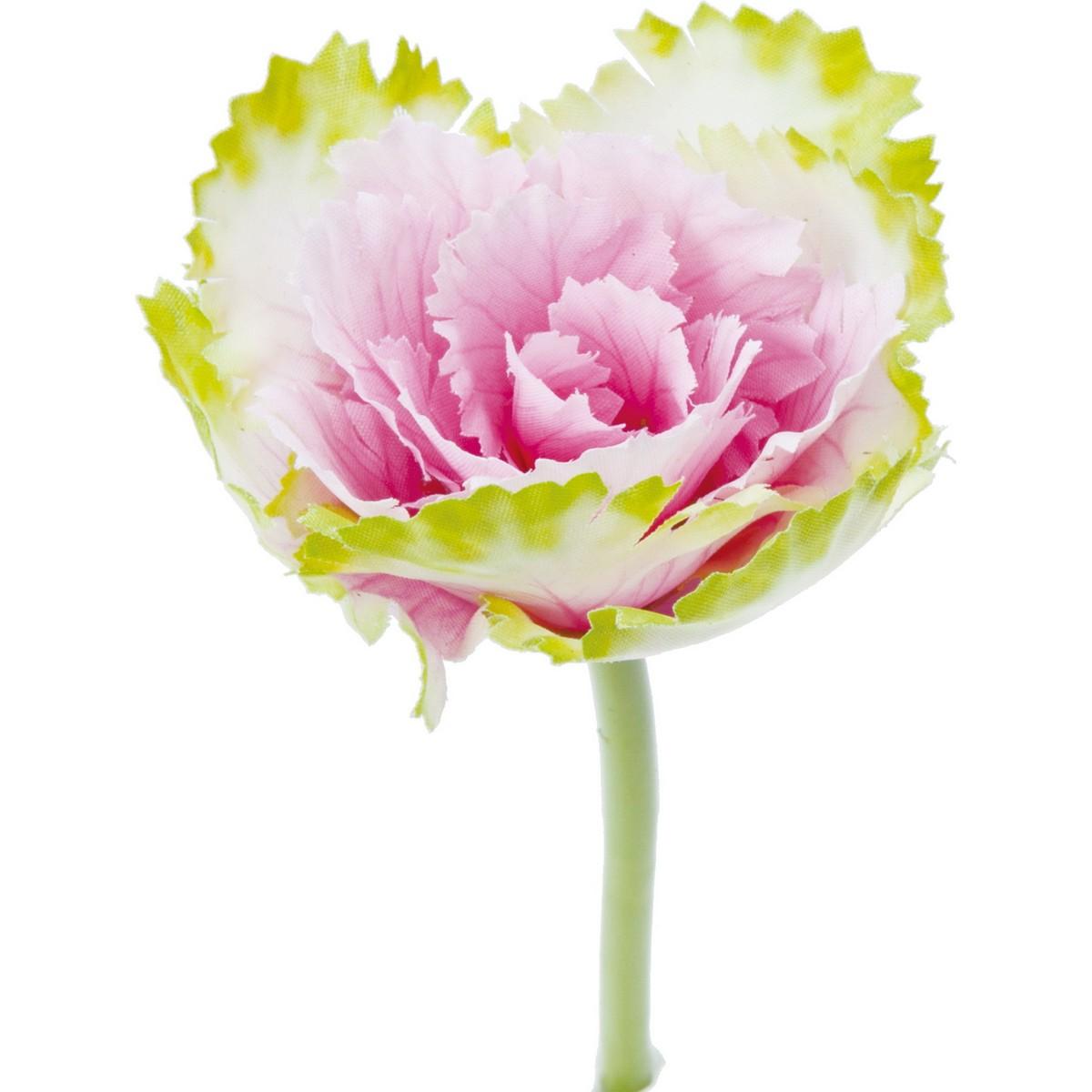 【造花】YDM/ハボタンピックS ピンク/FS-5251-P【01】【01】【取寄】《 造花(アーティフィシャルフラワー) 造花 花材「は行」 ハボタン(葉牡丹) 》