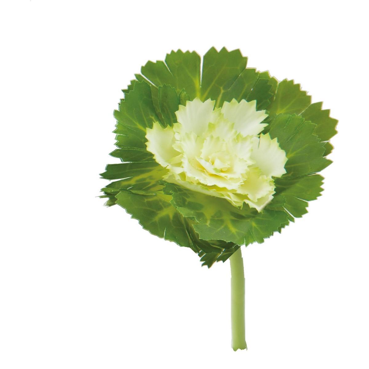 【造花】YDM/ハボタンピックS ホワイトグリーン/FS-5251-W/G【01】【01】【取寄】《 造花(アーティフィシャルフラワー) 造花 花材「は行」 ハボタン(葉牡丹) 》