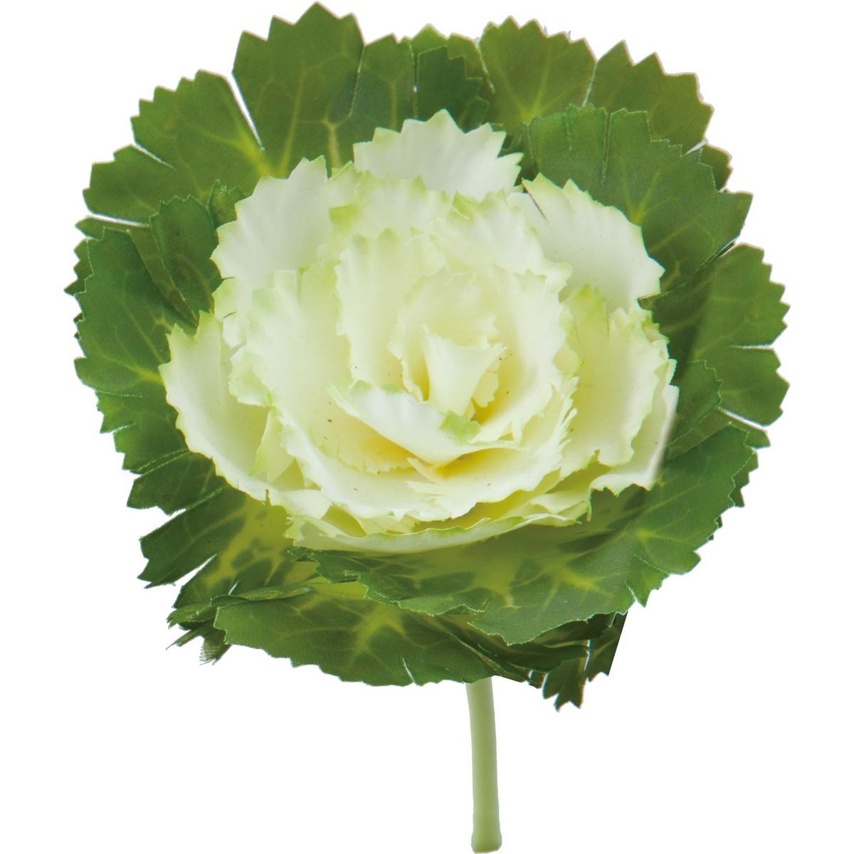【造花】YDM/ハボタンピックM ホワイトグリーン/FS-5252-W/G【01】【01】【取寄】《 造花(アーティフィシャルフラワー) 造花 花材「は行」 ハボタン(葉牡丹) 》