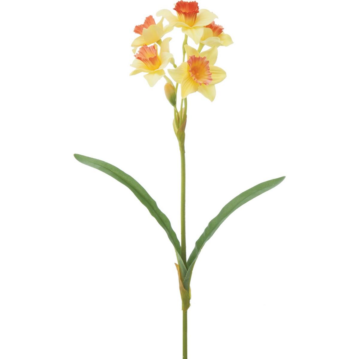 【造花】YDM/スイセン イエローオレンジ/FS-5246-YOR【01】【取寄】《 造花(アーティフィシャルフラワー) 造花 花材「さ行」 スイセン(水仙) 》