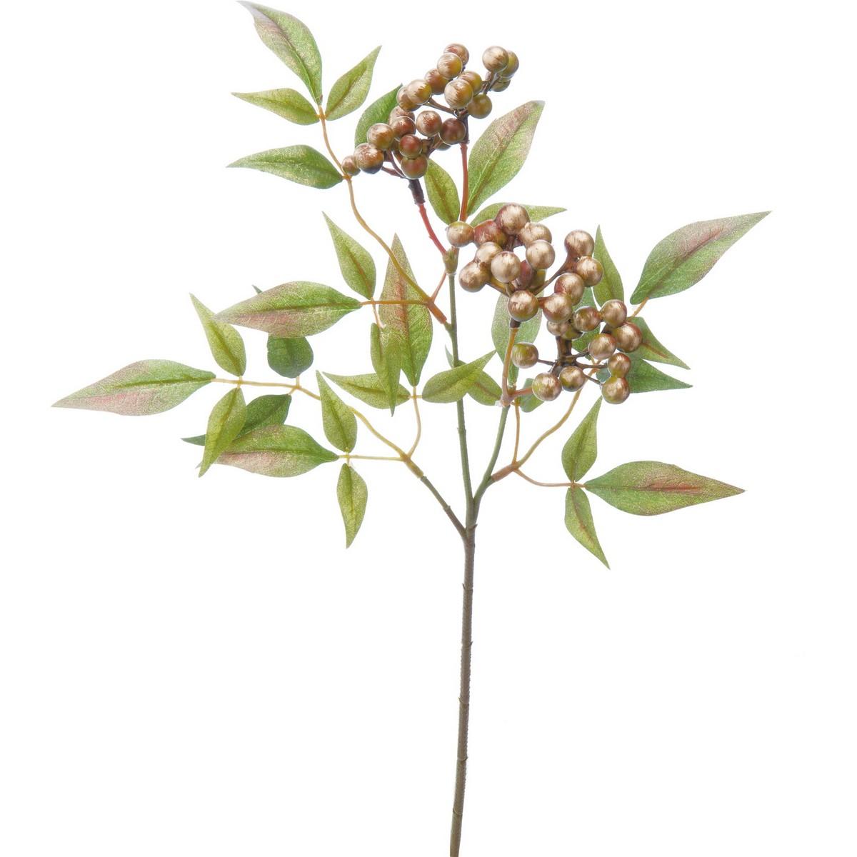 【造花】YDM/ブラッシュ南天スプレー グリーン/FS-5254-GR【01】【取寄】《 造花(アーティフィシャルフラワー) 造花実物、フェイクフルーツ ナンテン 》