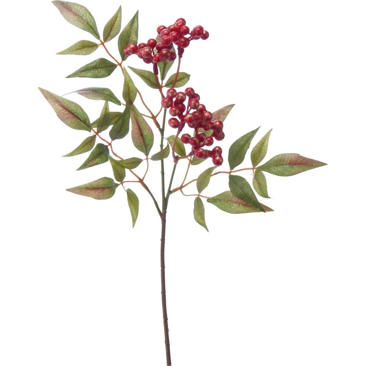 【造花】YDM/ブラッシュ南天スプレー レッド/FS-5254-R【01】【取寄】《 造花(アーティフィシャルフラワー) 造花実物、フェイクフルーツ ナンテン 》