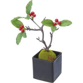 【造花】YDM/梅モドキ盆栽 レッド/GLA-1416-R【01】【01】【取寄】《 造花(アーティフィシャルフラワー) 造花 花材「あ行」 ウメ(梅) 》