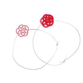 【造花】YDM/水引紅白梅飾りバンド 2個入/NIID-007【01】【01】【取寄】《 造花(アーティフィシャルフラワー) 造花 花材「あ行」 ウメ(梅) 》