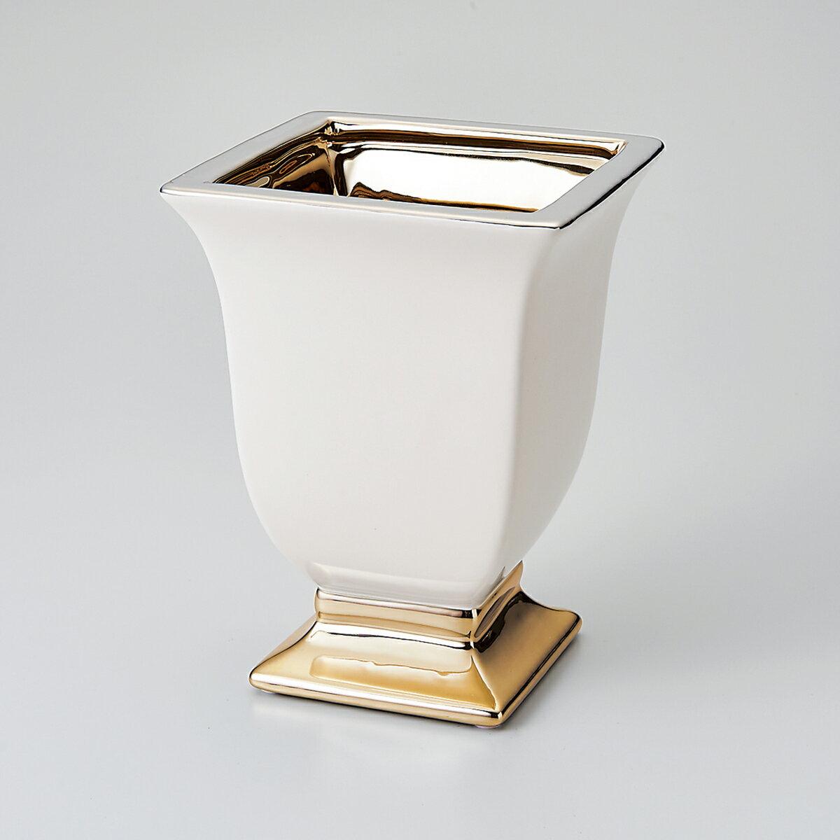エクラカップ L MC-1709 ゴールド/155-1709-100【01】【取寄】《 花器、リース 花器・花瓶 陶器花器 》