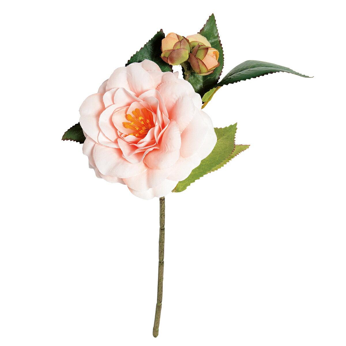 【造花】P-2020-30 椿 ピンク/144-202032-0【01】【01】【取寄】《 造花(アーティフィシャルフラワー) 造花 花材「た行」 ツバキ(椿) 》