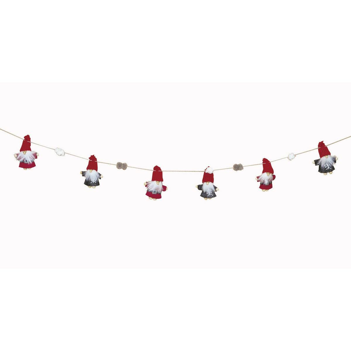 AMANO/ウッドフェルトウェアーサンタガーランド/MNM-2610【01】【取寄】《 ディスプレイ用品・インテリア クリスマス飾り ガーランド・チェーン 》