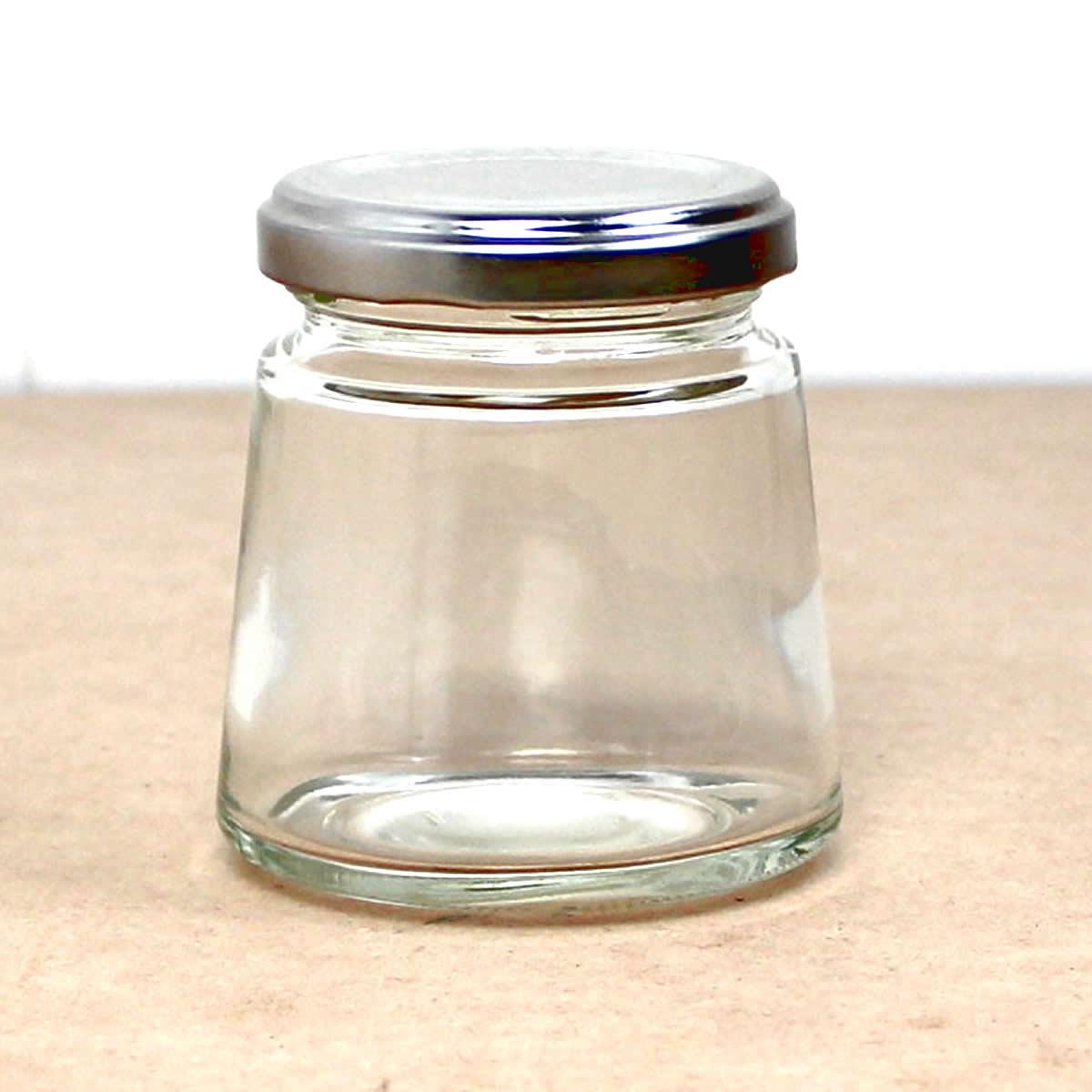 即日★ハーバリウム瓶(モンブラン) 140ml アルミ銀キャップ付【00】《花資材・道具 ハーバリウム材料 ハーバリウム オイル》