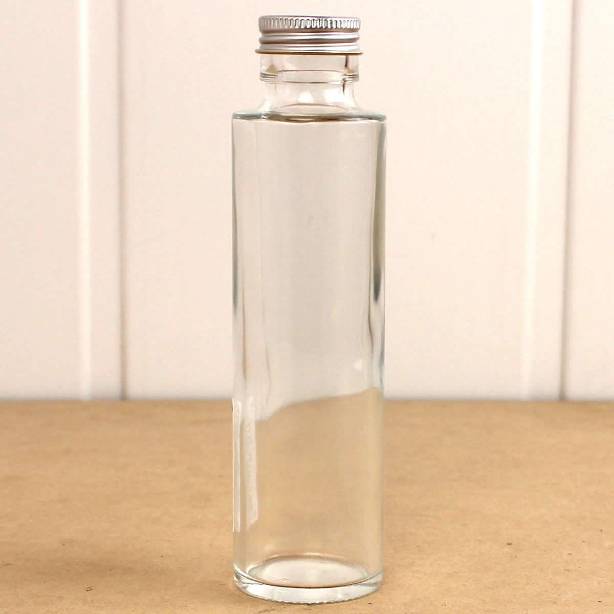 即日★ハーバリウム瓶(丸) 150ml アルミ銀キャップ付【00】《花資材・道具 ハーバリウム材料 ハーバリウム オイル》