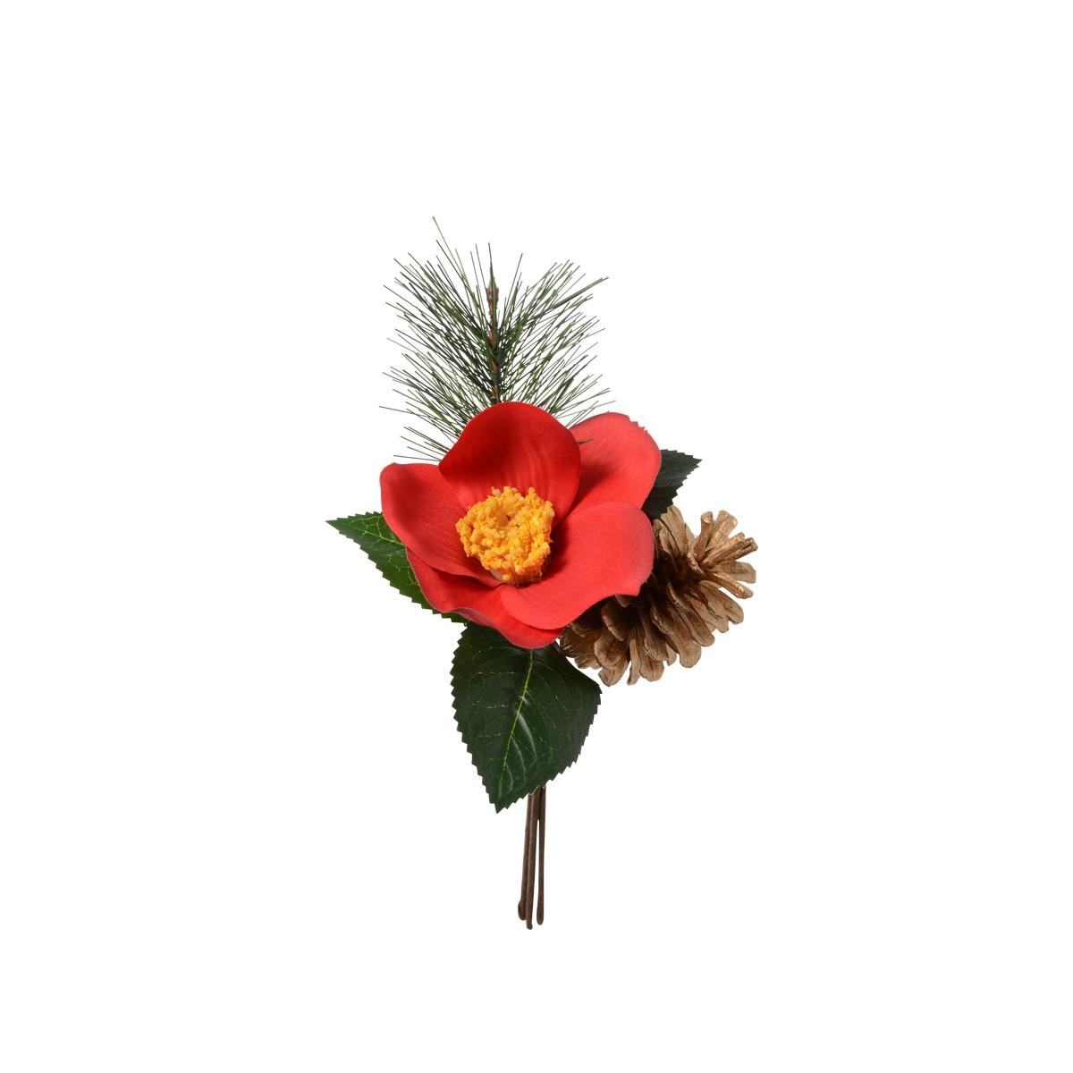 【造花】パレ/椿ピック レッド/P-1680-50【01】【取寄】《 造花(アーティフィシャルフラワー) 造花 花材「た行」 ツバキ(椿) 》