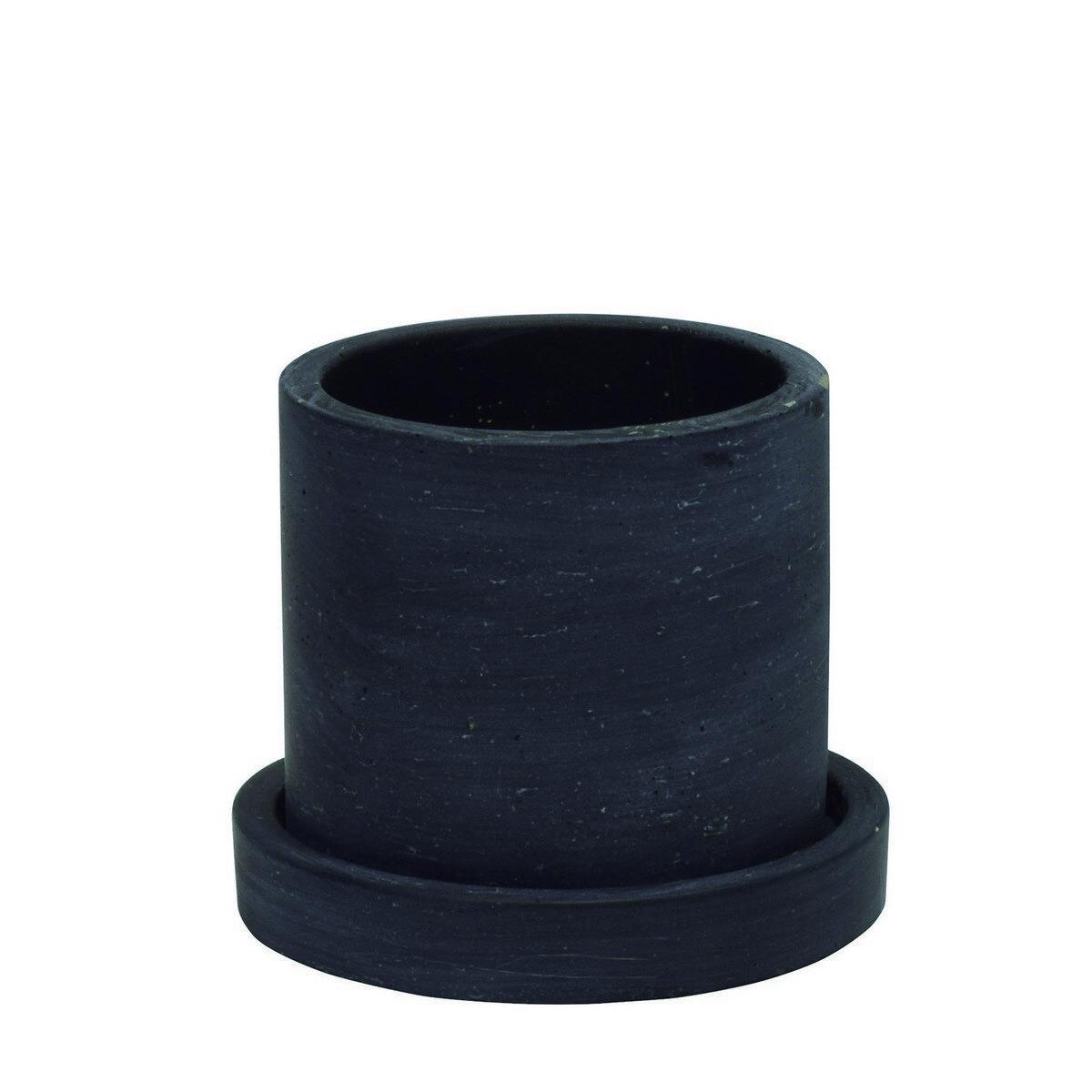 CARNAC/セメントポットサークルS-BK/WJ15BK【01】【01】【取寄】[4個]《 ガーデニング用品 ポット・鉢 セメント 》