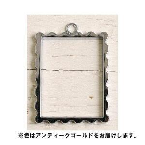 NBK/フレームペンダント 切手 AG 2個入 アンティークゴールド/A8-58【01】【取寄】