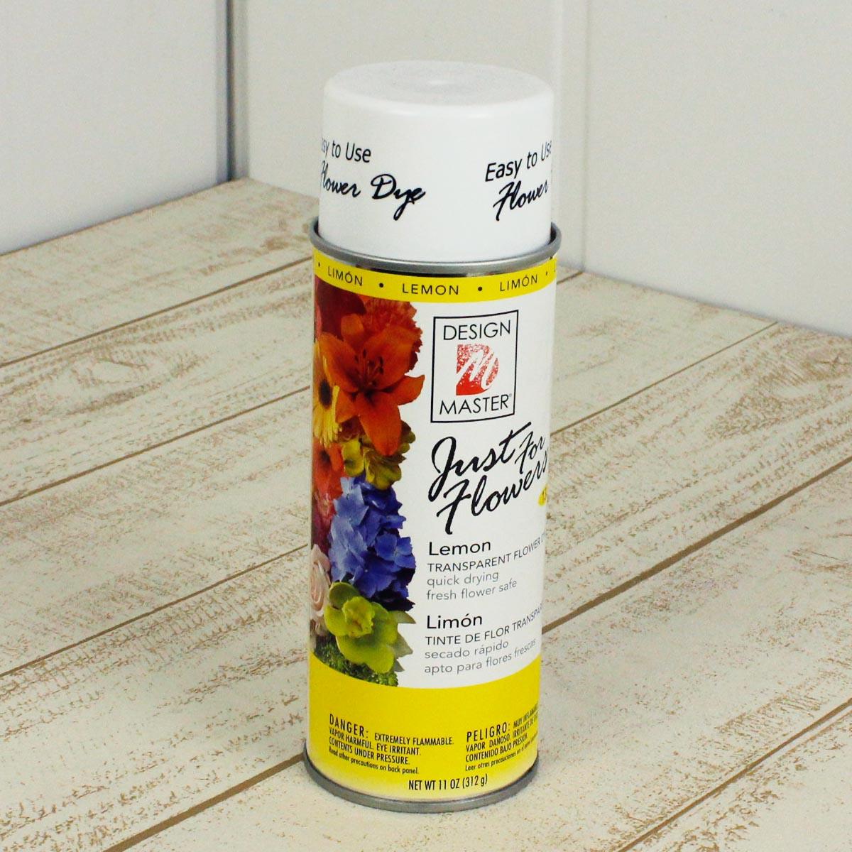 オアシス/Just for flowers(カラースプレー) レモン 400ml/132【01】【取寄】《 花資材・道具 グリッター、カラースプレー 》