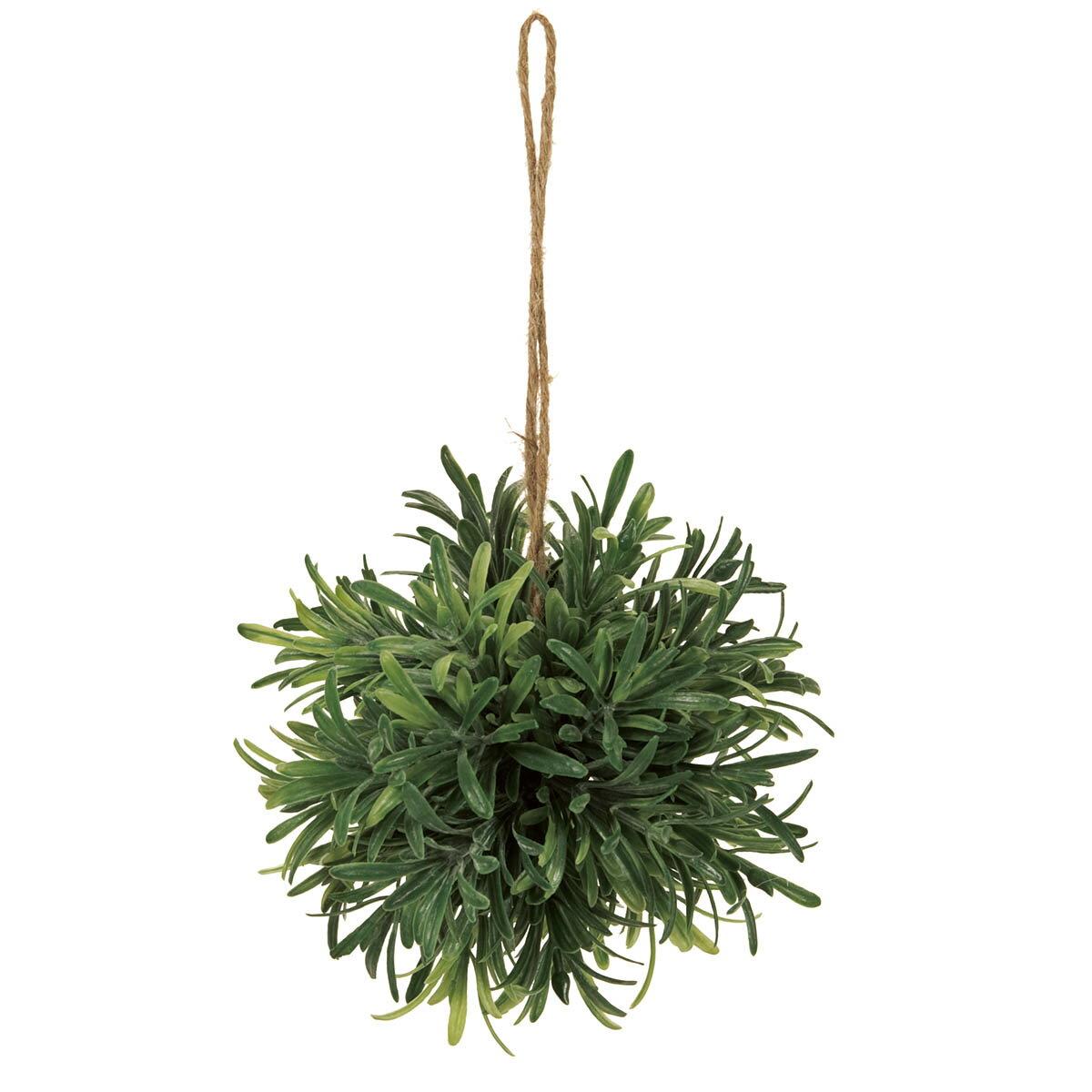 【造花】MAGIQ(東京堂)/パウダーローズマリーボールS グリーン/FG001556【01】【取寄】《 造花(アーティフィシャルフラワー) 造花葉物、フェイクグリーン ハーブ 》