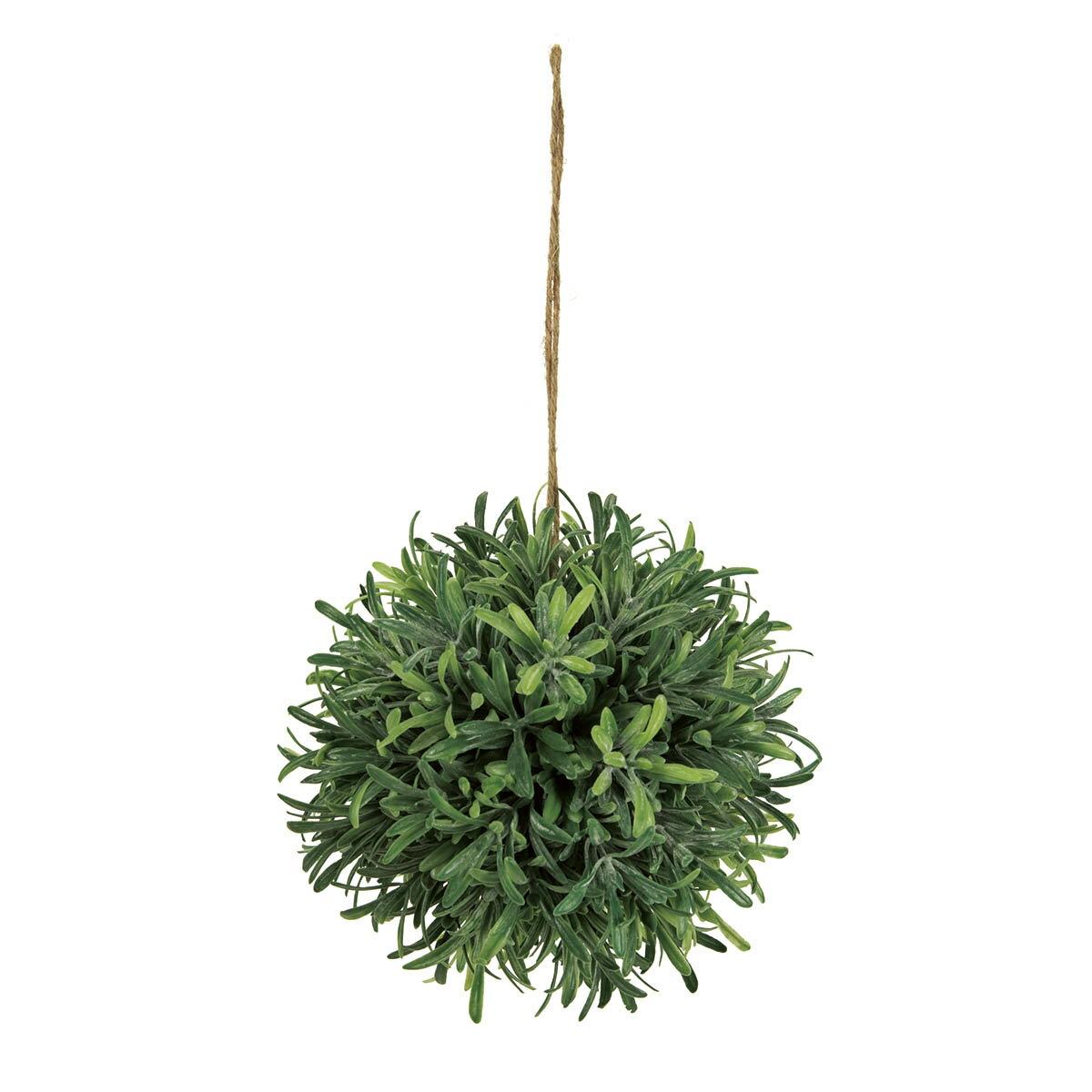 【造花】MAGIQ(東京堂)/パウダーローズマリーボールM グリーン/FG001557【01】【取寄】《 造花(アーティフィシャルフラワー) 造花葉物、フェイクグリーン ハーブ 》