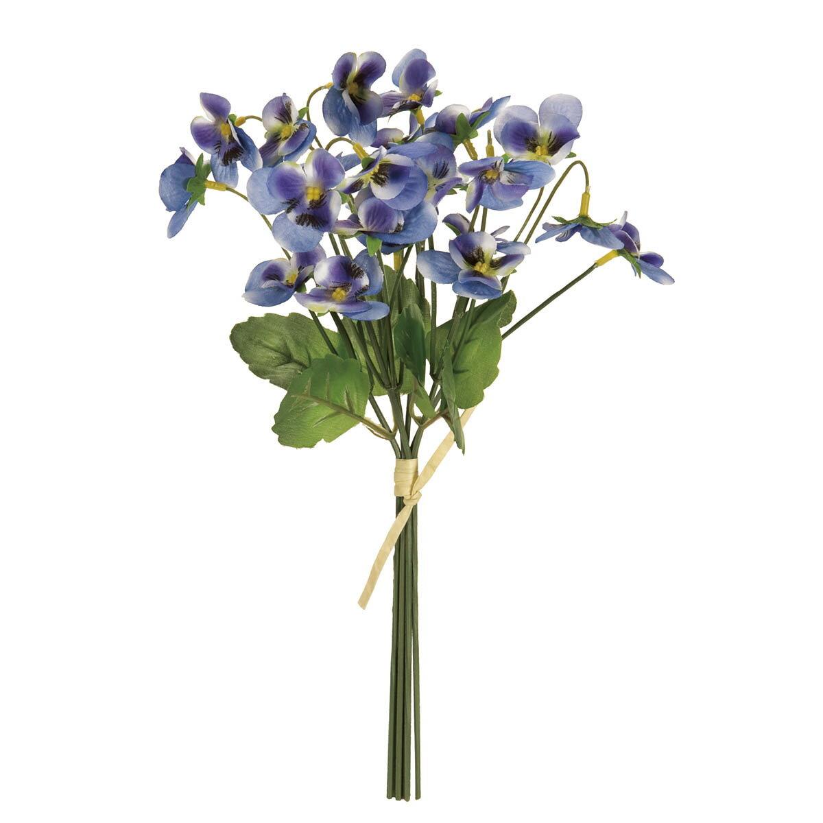 【造花】MAGIQ(東京堂)/カレンパンジーブーケ #5 ブルー/FM008269-005【01】【01】【取寄】《 造花(アーティフィシャルフラワー) 造花 花材「は行」 パンジー 》
