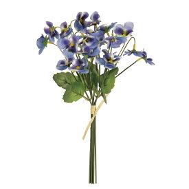 即日 【造花】MAGIQ(東京堂)/カレンパンジーブーケ #5 ブルー/FM008269-005《 造花(アーティフィシャルフラワー) 造花 花材「は行」 パンジー 》