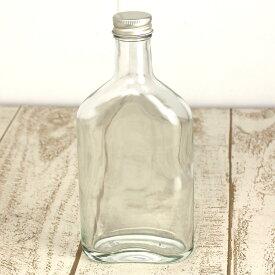 即日 ハーバリウム瓶(ウィスキー1:ポケット)200ml 専用アルミ金キャップ付 ハーバリウム 瓶・ボトル ガラス瓶 手作り 材料