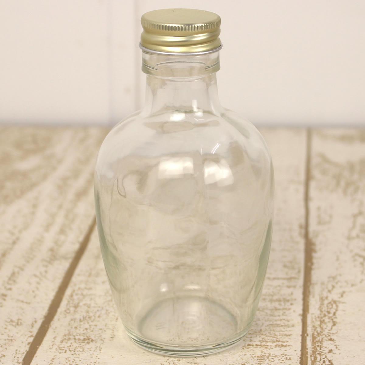 即日★ ハーバリウム瓶(フルーツ)200ml アルミ赤金キャップ付《花資材・道具 ハーバリウム材料 ハーバリウム オイル》