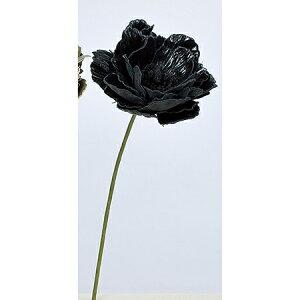 【造花】アスカ/ピオニーピック #100 ブラック/A-39660-100【01】【取寄】 造花(アーティフィシャルフラワー) 造花 花材「さ行」 シャクヤク(芍薬)・ボタン(牡丹)・ピオニー 手作り 材